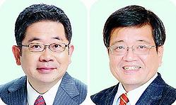 (写真左)小池晃副委員長、(右)森永卓郎さん