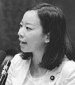 質問する吉良よし子議員15日、参院倫理選挙特委