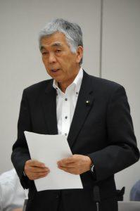 質問する吉田信夫都議=11日、都議会オリンピック対策特別委