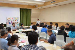 都議選の取り組みを交流する勝手連のメンバーら=20日、東京都豊島区