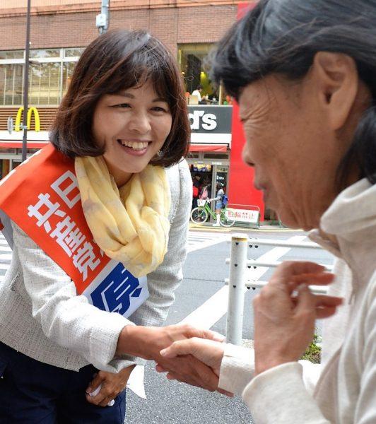 原純子:国会議員元秘書、保育士・社会福祉士、党東京都常任委員。53歳。
