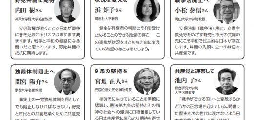 「市民+野党」と日本共産党の躍進で 安倍政権退場の審判を!