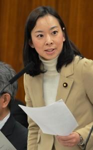 質問する吉良よし子議員=3日、参院総務委