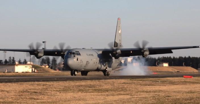 米空軍C130J輸送機