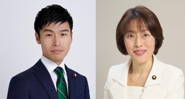 田村智子副委員長・参院議員と山添拓参院議員