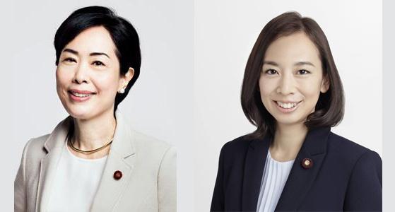 畑野君枝衆院議員と吉良よし子参院議員